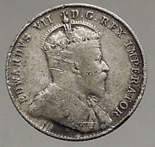 1907 CANADA - Antique SILVER 10 Cents Coin - Under UK King EDWARD VII i56823