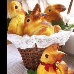 """Süße Quarkteig - Hasen """"heart""""-Emoticon  Schöne Überraschung an Ostern!"""