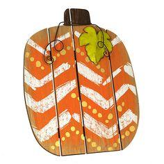 Gold Chevron Wood Slat Pumpkin | Kirklands