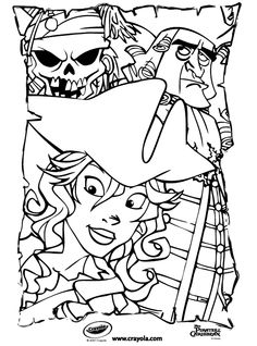 Disney Pirates of the Caribbean Jack Sparrow coloring page