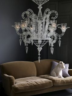 Chandelier!  #HSN #HouseBeautiful This is a really interesting chandelier...like how it's very graphic and elegant at the same time