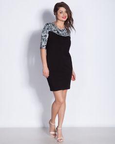 663ef69c765 Черна дамска рокля с платка на цветчета - Darma #онлайн #пазаруване #дрехи #