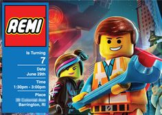 Lego birthday party invitation!  See more party ideas at CatchMyParty.com!