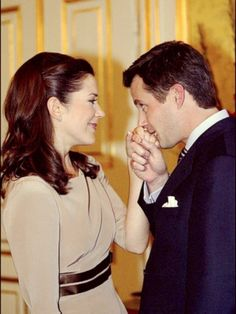 Engagement of Crown Prince Frederik of Denmark and Mary Elizabeth Donaldson (now Crown Princess Mary of Denmark) Mary Of Denmark, Denmark Royal Family, Danish Royal Family, Princesa Mary, Prince Héritier, Prince And Princess, Mary Elizabeth, Crown Princess Mary, Princess Madeleine