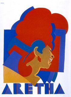 Milton Glaser - Aretha Franklin