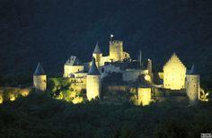 Bourscheid castle by night