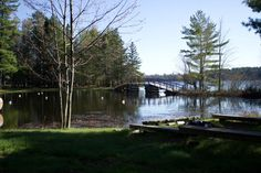 """The bridge that leads to Cathedral Pines or """"The Point,"""" Honey Rock Camp, Three Lakes, Wisconsin. Parent Teacher Meeting, Three Lakes, Parents As Teachers, High Art, Home And Away, Wisconsin, Serenity, Cathedral, Bridge"""