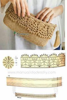 Discover thousands of images about Best 12 Purse bag crochet pattern salvabrani – Artofit Crochet Clutch Bags, Crochet Wallet, Crochet Purse Patterns, Crochet Tote, Crochet Handbags, Crochet Crafts, Crochet Projects, Crochet Backpack, Crocheted Bags