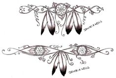 Girly Dreamcatcher Tattoos - would be a great back tattoo or around the arm