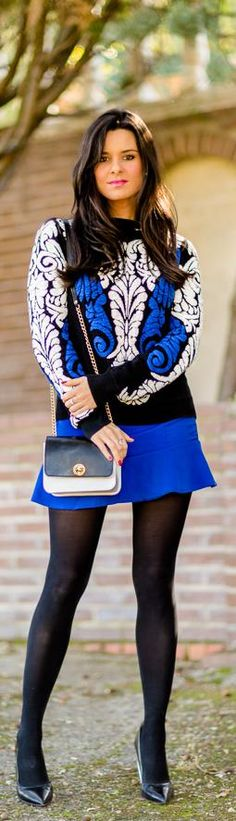 FALL FASHION 2014 http://crimenesdelamoda.com/2013/11/08/look-azul-blanco-y-negro/