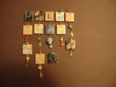 scrabble tiles Diy Recycle, Recycling, Scrabble Tiles, Recycled Jewelry, Puzzle Pieces, Monopoly, Diy Tutorial, Crafty, Games
