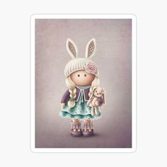 Rabbit, My Arts, Stickers, Art Prints, Dolls, Christmas Ornaments, Printed, Holiday Decor, Awesome