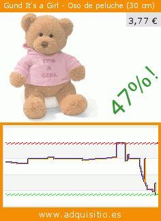 Gund It's a Girl - Oso de peluche (30 cm) (Juguete). Baja 47%! Precio actual 3,77 €, el precio anterior fue de 7,17 €. https://www.adquisitio.es/gund/its-girl-oso-peluche-30