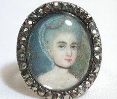 Bourgeoisie Extolled - Georgian Portrait Miniature Ring - The Three Graces