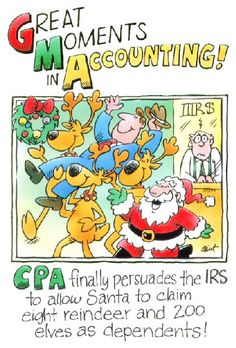 Is it too early for a Santa Claus accounting joke?