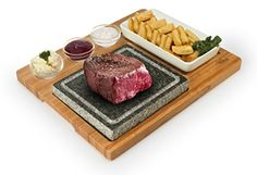 Artestia Barbecue / BBQ / Hibachi / Steak Grill Sizzling Hot Stone Set for sale online Hibachi Steak, Grill Stone, Cooking Stone, Bbq Gifts, Weber Bbq, Stove Oven, How To Grill Steak, Roasting Pan, Baked Goods