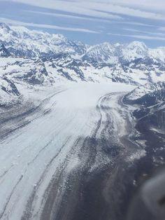Anchorage, Alaska - glacier view over Mt. McKinley