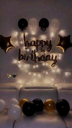 Happy Birthday Decor, Birthday Party Decorations For Adults, 18th Birthday Party, Birthday Party Themes, Birthday Gifts For Boyfriend Diy, Birthday Wallpaper, Birthday Balloons, Quotes, Easy