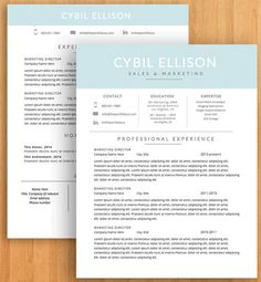 Professional Resume Template  Cv Template Word A Cover Letter