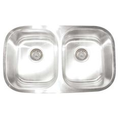 "Artisan Sinks Premium Series 30"" x 17.75"" Double Bowl Undermount Kitchen Sink"