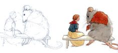 Sketch for Thumbelina by Lisbeth Zwerger