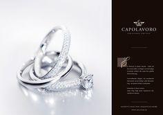 Ein Diamant in einem Herzen - Liebe auf den ersten Blick. In Ringen von einmaliger Schönheit erfährt die Liebe ihre größte Wertschätzung.  Formvollendet elegant mit excellenten Diamanten, ob als Solitair- oder Memoirering - sie passen einfach zueinander.  Erkennbar in ihrem Innern: Jeder Ring trägt einen Capolavoro Diamanten im Herzen.