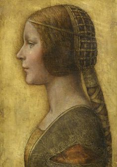 15th Century Portrait  Young Woman Shows the lovely caul and hair tube popular at this time.