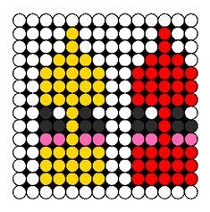 Kawaii Mustard And Ketchup Perler Bead Pattern / Bead Sprite