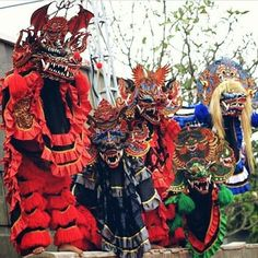 DEVIL'S CREW ( @yudhoputro1270 ) Barong, Headdress, Editor, Devil, Masks, Geek Stuff, Crafting, Traditional, Photography