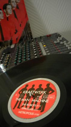 "Kraftwerk - The Man Machine ( UK / Capitol Records / Kraftwerk / 1978 )  The Man-Machine (German: Die Mensch-Maschine) is the seventh studio album by German electronic music band Kraftwerk, released in May 1978. It includes the singles ""The Model"" and ""The Robots""."