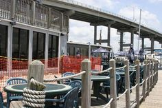 Matanzas Inn Restaurant Ft Myers Beach, FL - pulling up in pontoon boat for lunch is great memory!
