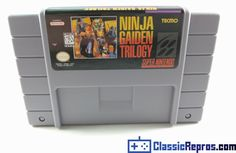 Ninja Gaiden Tril...  Come check out the latest addition to the family!  http://www.classicrepros.com/products/ninja-gaiden-trilogy-super-nintendo-high-quality-reproduction?utm_campaign=social_autopilot&utm_source=pin&utm_medium=pin