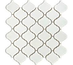 Mini Arabesque- White Tile- Backsplash Tile- Kitchen Tile