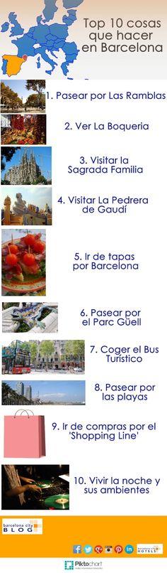 10 cosas que hacer en Barcelona: #Infografía http://mundodeviagens.com/ - Existem muitas maneiras de ver o Mundo. O Blog Mundo de Viagens recomenda... TODAS!