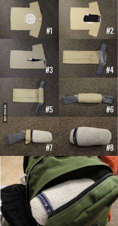 empacar cambio de ropa para campamento