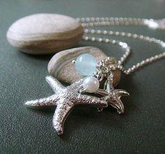 beach inspired starfish necklace