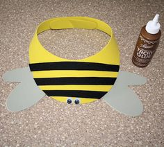 Bumble Bee Craft Foam Visor - Ep 59 : Foods that give you energy when you're exercising Bee Crafts, Foam Crafts, Craft Stick Crafts, Preschool Crafts, Crafts To Make, Crafts For Kids, Craft Foam, Craft Activities, Bee Party