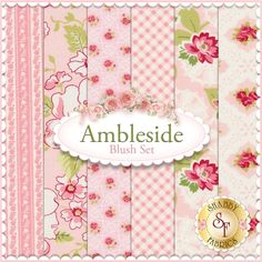 "Ambleside 6 FQ Set - Blush by Brenda Riddle for Moda Fabrics: Ambleside is a collection by Brenda Riddle for Moda Fabrics. 100% Cotton. This set contains 6 fat quarters, each measuring approximately 18""x21"""
