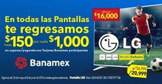 Best Buy cupones en todas las pantallas pagando con Banamex
