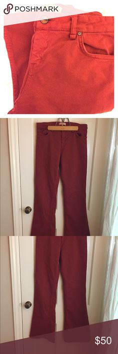 "Sanctuary Flares Perfect for fall!  Rust colored flares from Sanctuary at Anthropologie.  Size 29 in excellent condition.  31"" inseam. Anthropologie Jeans Flare & Wide Leg"