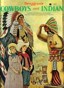 Tenggren's Cowboys and Indians (A Giant Golden Book), by Kathryn and Byron Jackson, illustrated by Gustaf Tenggren