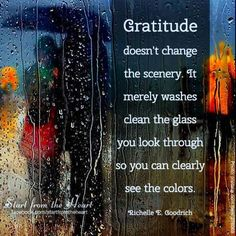 Gratitude changes the way we view the world.