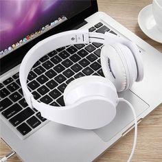 Universal Headset computer headset wired notebook with microphone game music Beats Headphones, Over Ear Headphones, Headset, Macbook, Notebook, Game, Ebay, Music, Headphones