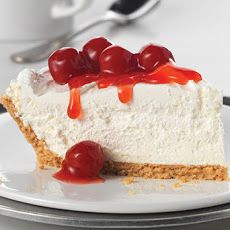 Fluffy Cheesecake Recipe Desserts with Philadelphia Cream Cheese, sugar, cool whip, crumb crust, cherry pie filling