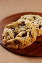 """Vegan Chocolate Chip CookieRecipe (note from someone else on Pinterest said: Classic Vegan Chocolate Chip Cookie Recipe - """"I replace egg with about 3/4 of a banana, and I keep using regular chocolate chips and regular butter, so mine are vegetarian, but not vegan"""")"""