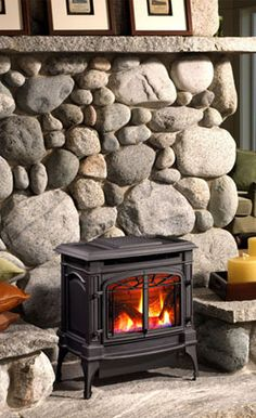 Enamel Wood Stoves with rock hearth – Bing images, – Freestanding fireplace wood burning