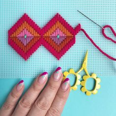 Weekend plans... Just add 🍹! #bargello @brooklyncraftcompany Bargello Patterns, Bargello Needlepoint, Needlepoint Stitches, Needlework, Plastic Canvas Stitches, Plastic Canvas Crafts, Plastic Canvas Patterns, Ribbon Embroidery, Cross Stitch Embroidery