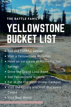 Planning Our Visit to Yellowstone