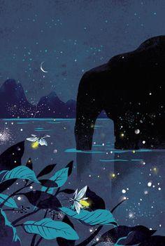 illustrations for children's book. 许地山散文插画