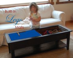 Personal Organizer - Mom's Lego Table: Ana White: removable panels to store legos, lego mats attached to bottom of lid